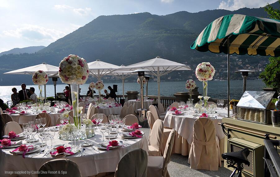 Casta diva resort luxurious lake como wedding villa venue - Hotel casta diva como ...
