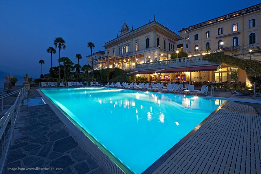 Grand-Hotel-Serbelloni-night-time-Lake-Como-wedding-venue