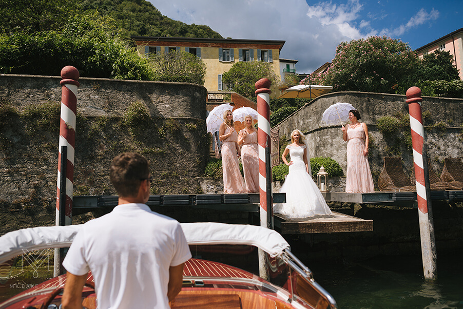 Lake-Como-wedding-bride-pick-up-from-villa-by-boat