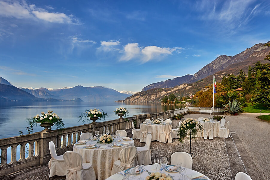 Villa-Largo-outdoor-wedding-dining-infront-of-the-Lake-Como
