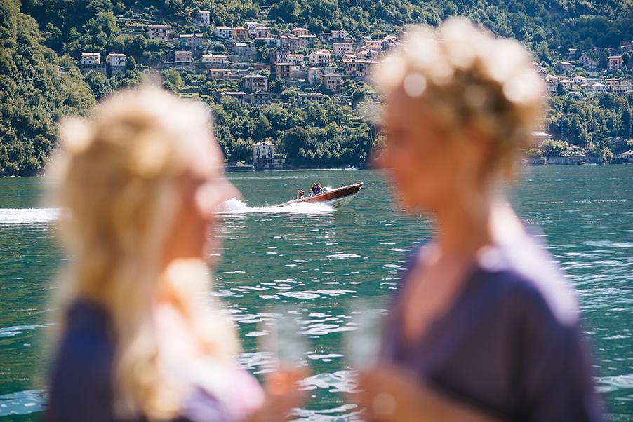 Bride-and-bridesmaid-at-Villa-Teodolinda-Lake-Como-wedding-venue