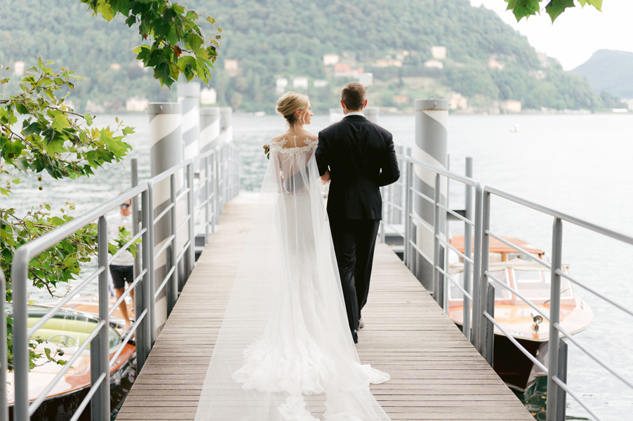 Bride-and-groom-ready-for-boat-ride-on-Lake-Como