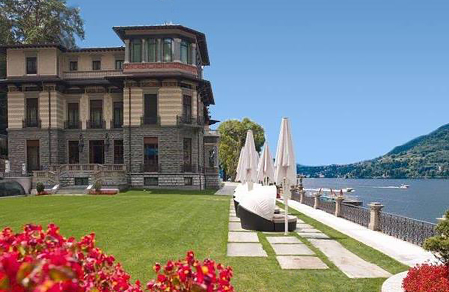 Casta diva wedding venue lake como lawn area for outdoor dining my lake como wedding - Casta diva como ...