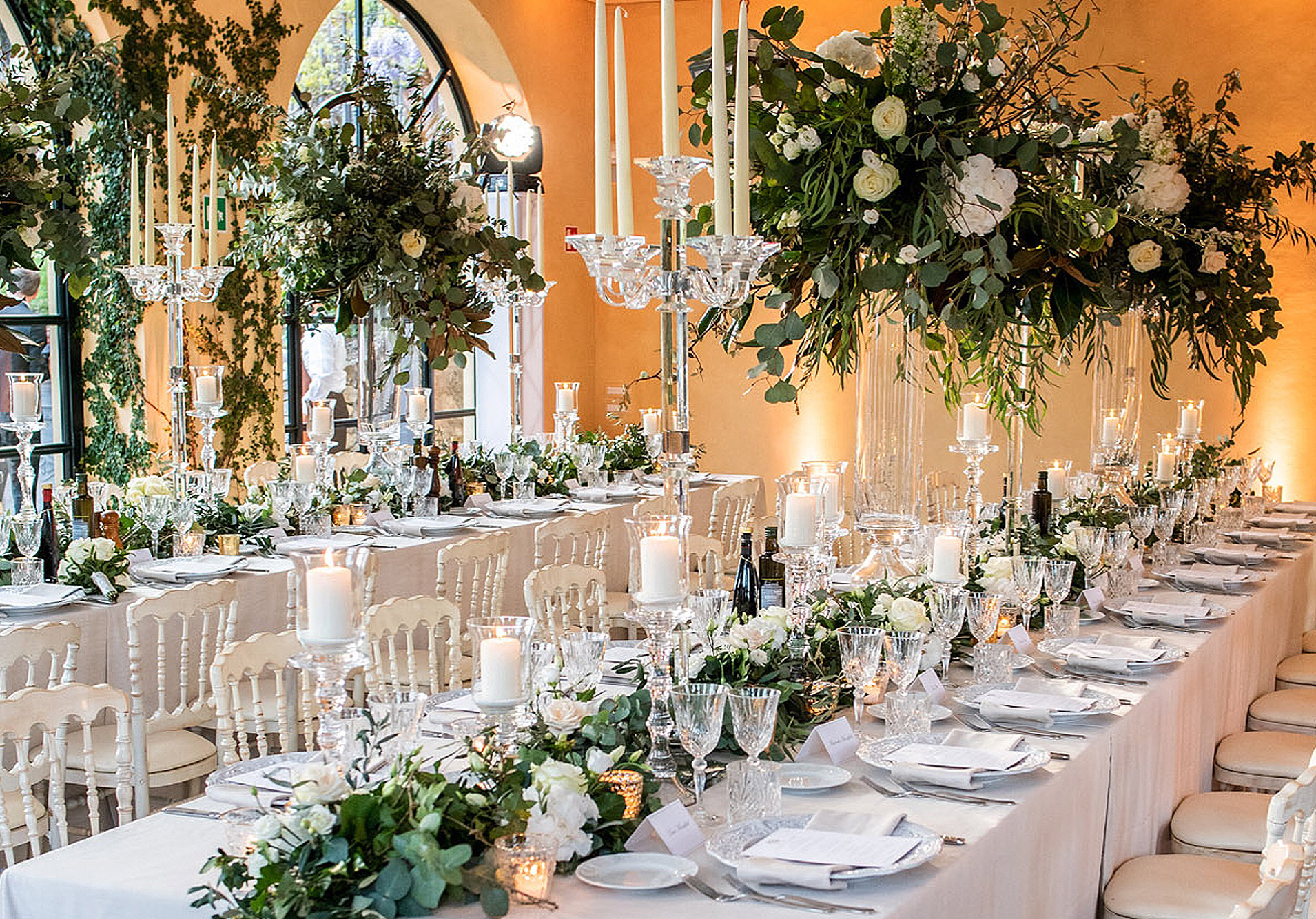 Evening-wedding-reception-at-Villa-Balbianello-weddings-planned-by-My-Lake-Como-Wedding