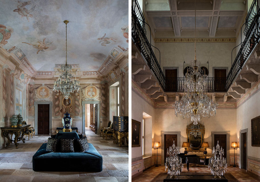 Two-images-showing-the-grand-architecture-of-Villa-Balbiano-wedding-venue-for-My-Lake-Como-Wedding