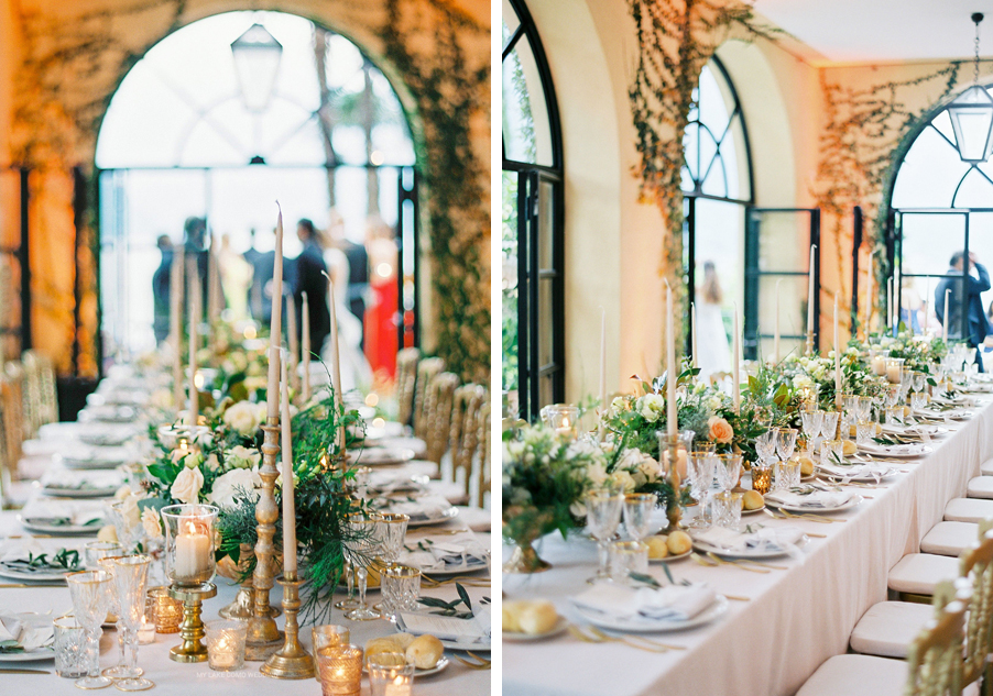 Two-images-showing-the-table-design-at-Villa-Balbianello-wedding-by-My-Lake-Como-Wedding