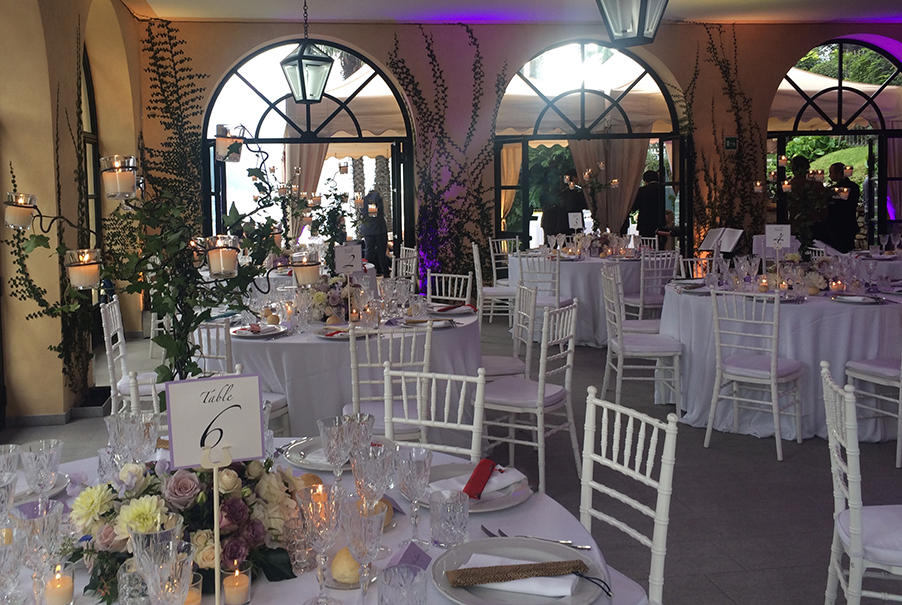 Villa-Balbianello-wedding-venue-showing-indoor-dining-room-set-up