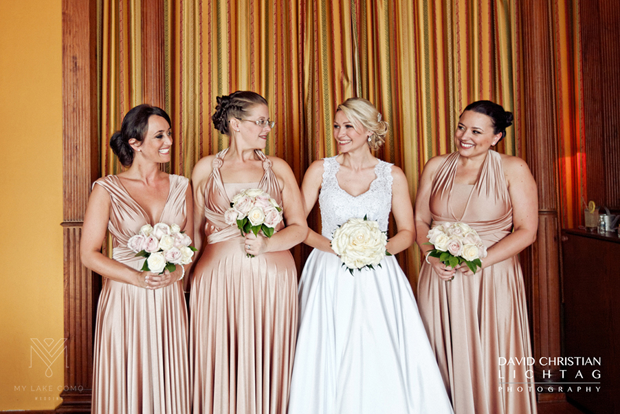 The-bride-and.her-bridesmaids-ready-in-the-hotel-room-before-Lake-Como-wedding-ceremony