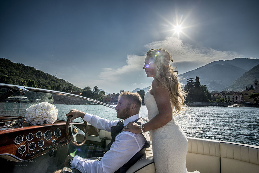 Bride-Groom-speed-boat-on-Lake-Como