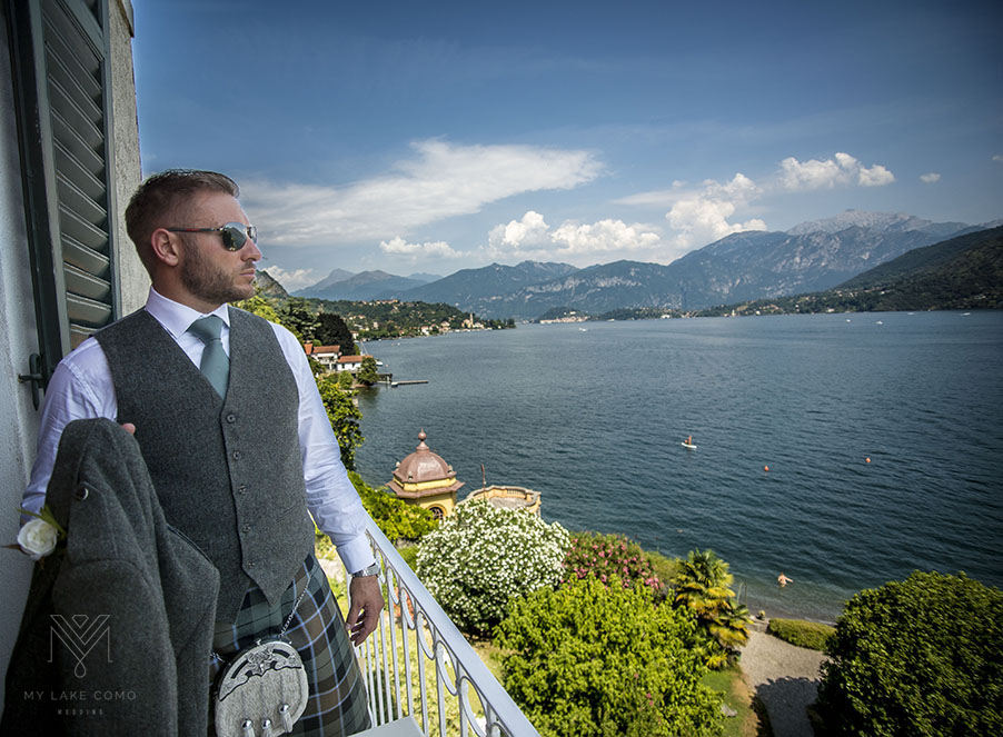Groom-ready-for-his-wedding-on-Lake-Como