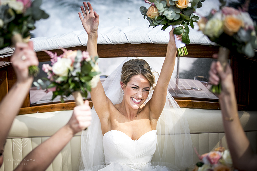 Bride-on-her-way-to-the-wedding-ceremony-on-Lake-Como