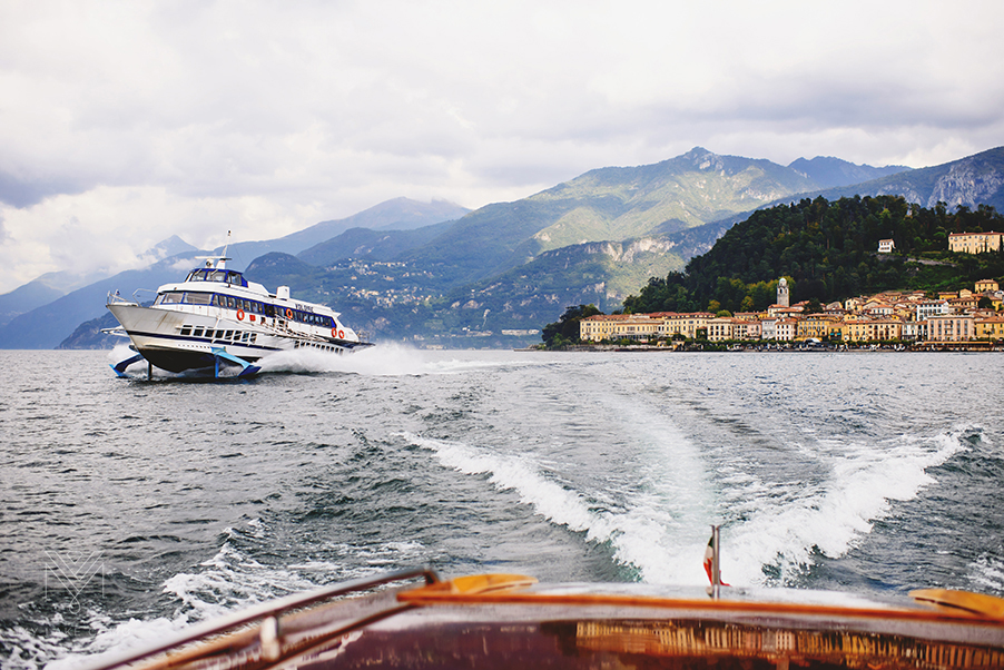 Bellagio-town-from-Lake-Como-speed-boat-showing-hydrofoil-ferry-service