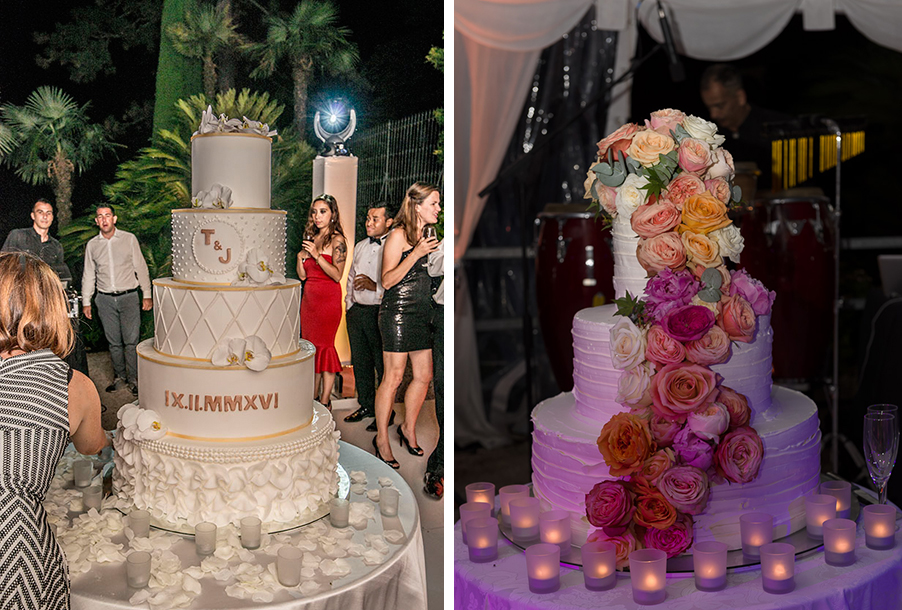 double-image-showing-wedding-cake-on-lake-como-by-my-lake-como-wedding
