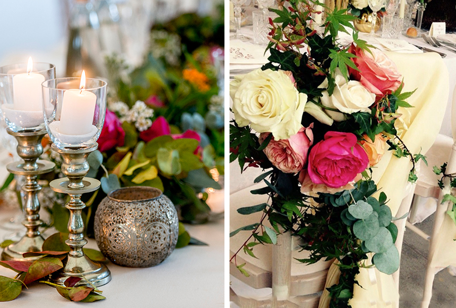 double-image-showing-wedding-chair-flowers-and-table-flowers-by-my-lake-como-wedding