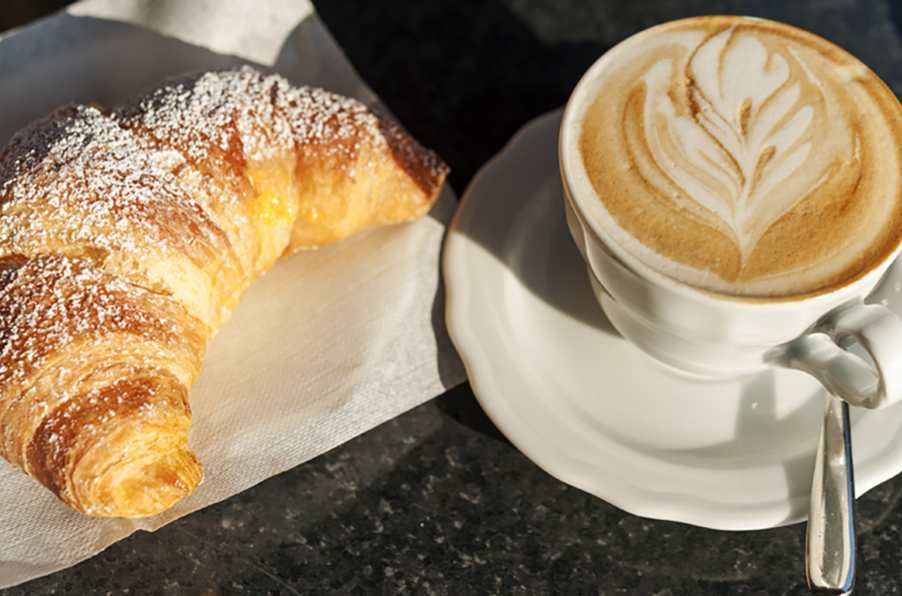 Italian-coffee-and-brioche-on-Lake-Como