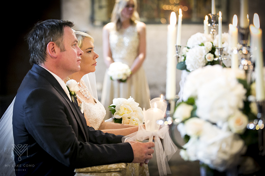 Lake-Como-church-wedding-with-candelabra-flower-displays