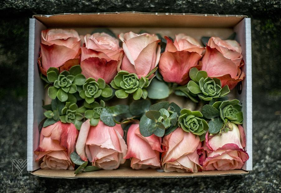 Lake Como Wedding C Rose On Hole Flowers