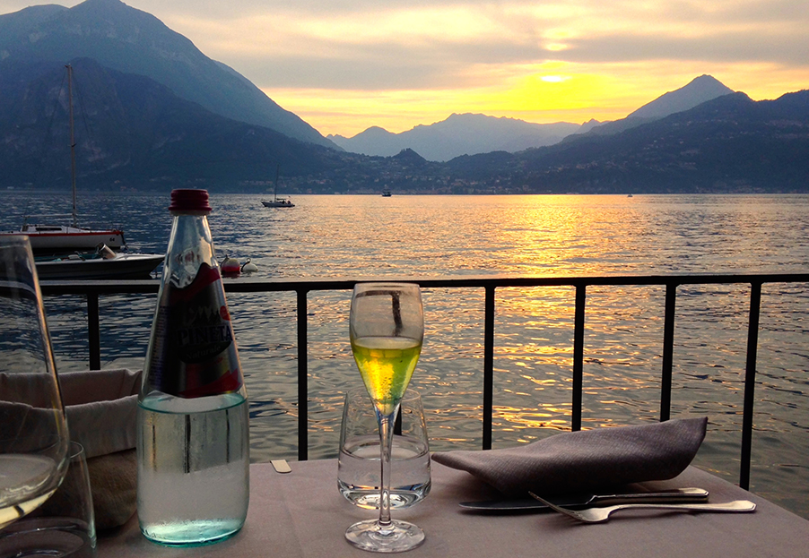 Sitting-watching-the-sun-set-at-Varenna-on-Lake-Como