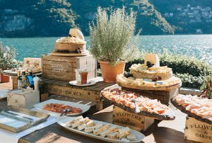 Italian Outdoor Wedding Food Aperitivo With Meat And Cheese My Lake Como
