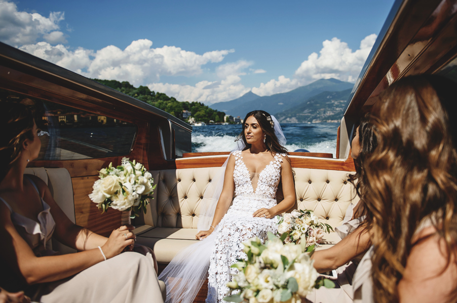 Bride-in-a-Venetian-Limo-boat-wedding-planner-My-Lake-Como-Wedding