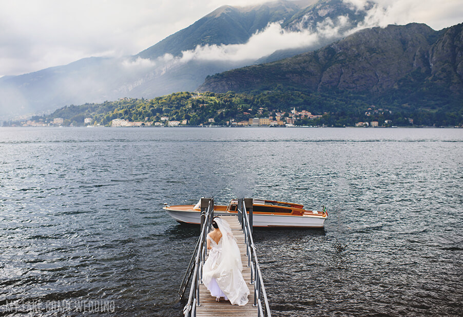 bride-walking-to-her-boat-on-lake-como-for-wedding-arranged-by-my-lake-como-wedding
