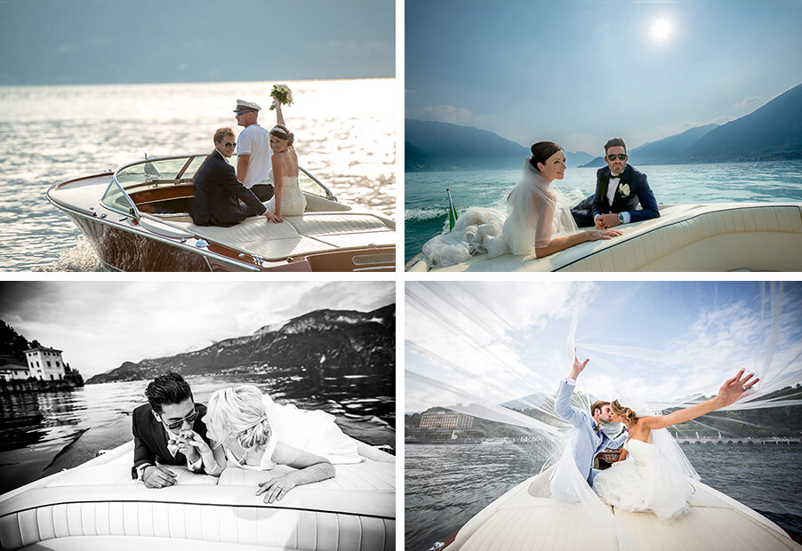 wedding-photos-of-bride-and-groom-on-speed-boat-service-by-wedding-planner-my-lake-como-wedding
