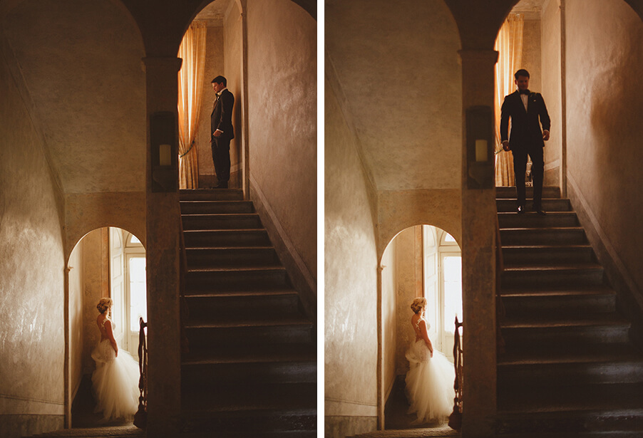 Bride-and-groom-reveal-at-Italy-villa-on-Lake-Como-wedding-day