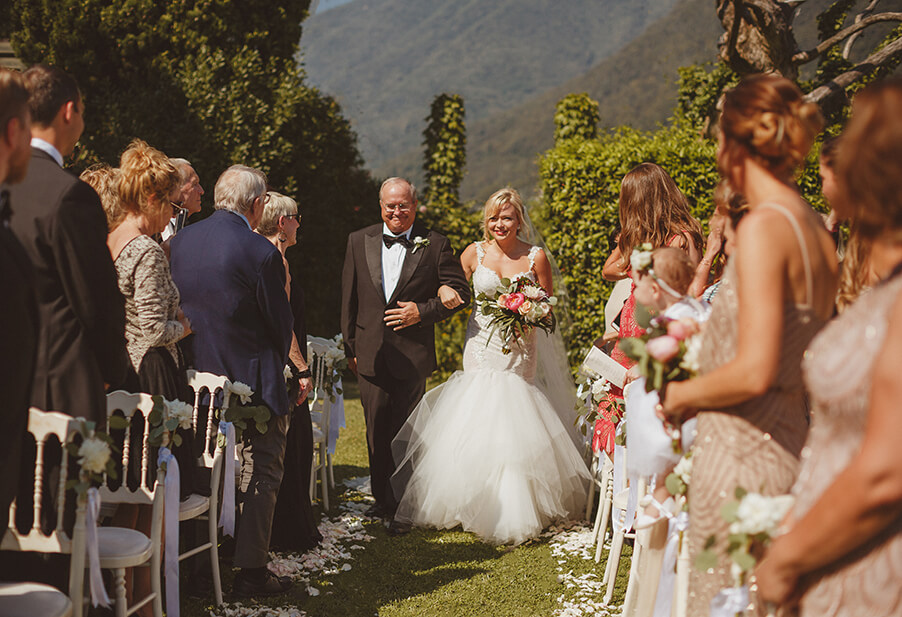 Bride-and-her-father-walking-down-the-aisle-Lake-Como-wedding-by-My-Lake-Como-Wedding