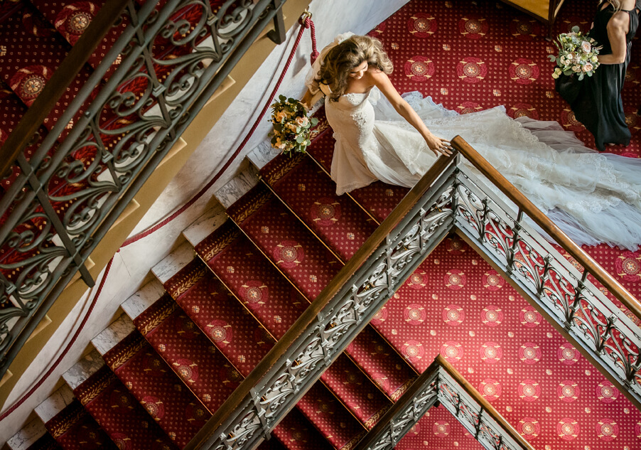 Bride-at-Grand-Hotel-Tremezzo-on-stairs-wedding-by-My-Lake-Como-Wedding