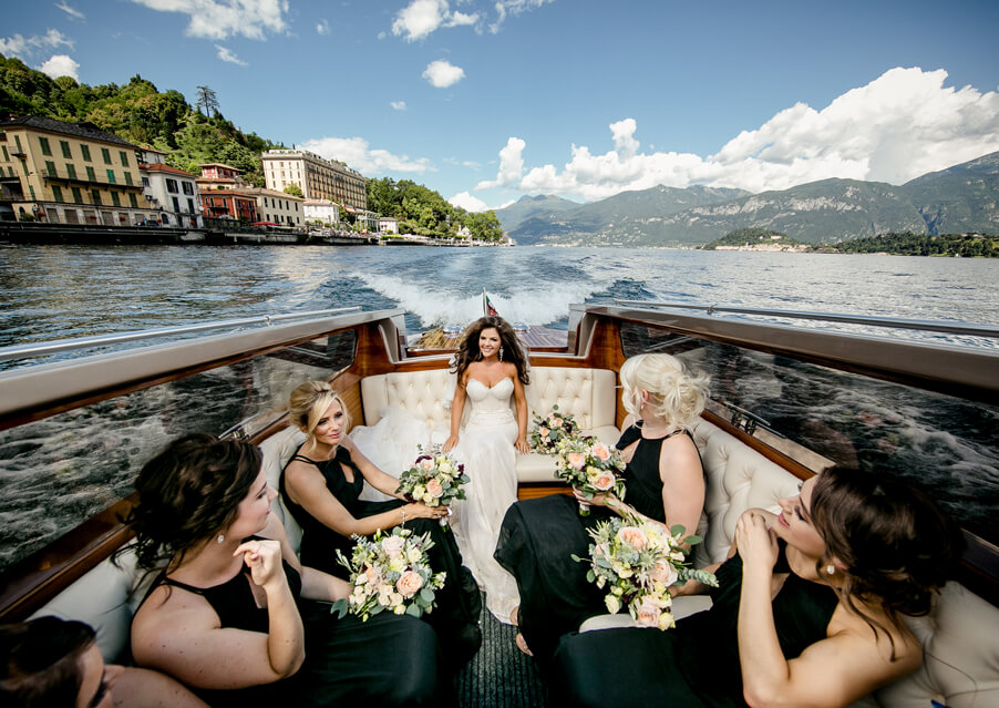 Bride-with-bridesmaids-in-boat-on-Lake-Como-wedding-planner-My-Lake-Como-Wedding