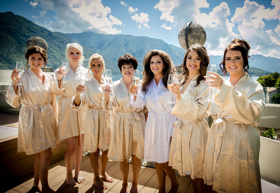Lake-Como-bridesmaids-with-champagne-on-wedding-day