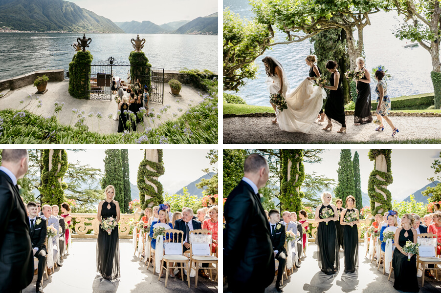 Wedding-at-Villa-Balbianello-showing-bride-arrival-at-ceremony-by-My-Lake-Como-Wedding