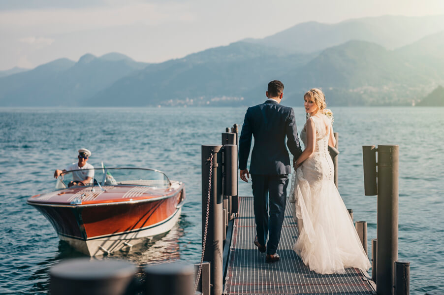 Bride-and-groom-wedding-photo-with-boat-and-lake-view-wedding-planner-My-Lake-Como-Wedding
