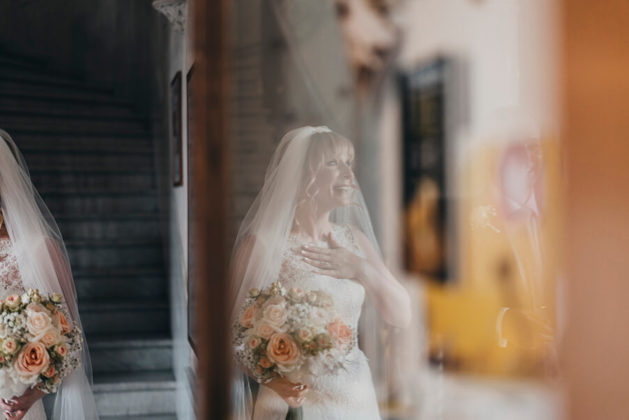Bride-reflection-on-wedding-day-at-Villa-Cipressi-wedding-planner-My-Lake-Como-Wedding