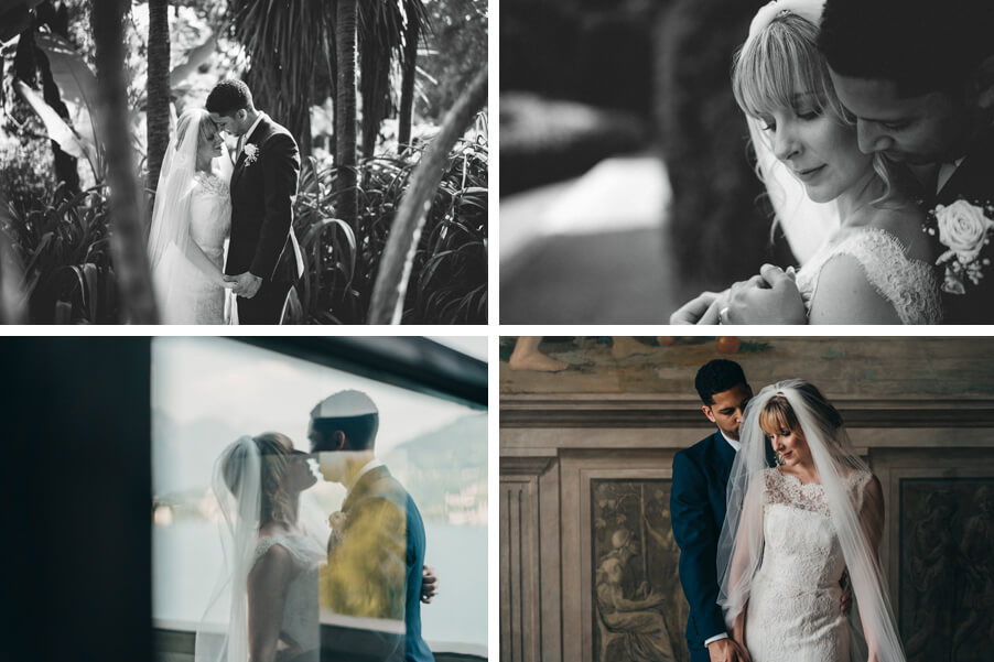 Four-images-showing-a-wedding-at-Villa-Carlotta-by-wedding-planner-My-Lake-Como-Wedding