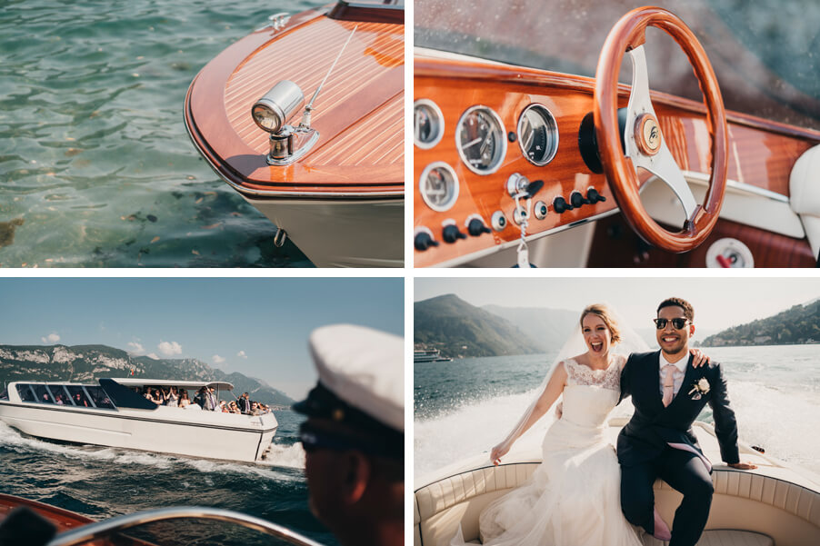 four-images-showing-a-wedding-photoshoot-on-Lake-Como-organised-by-My-Lake-Como-Wedding