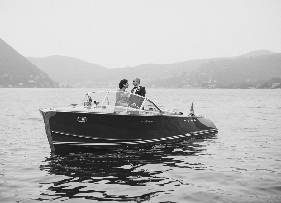 Bride-and-groom-on-Riva-speed-boat-on-Lake-Como-wedding-planner-My-Lake-Como-Wedding