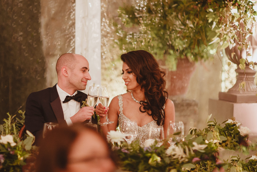 Bride-and-groom-with-Champagne-at-their-Lake-Como-Wedding
