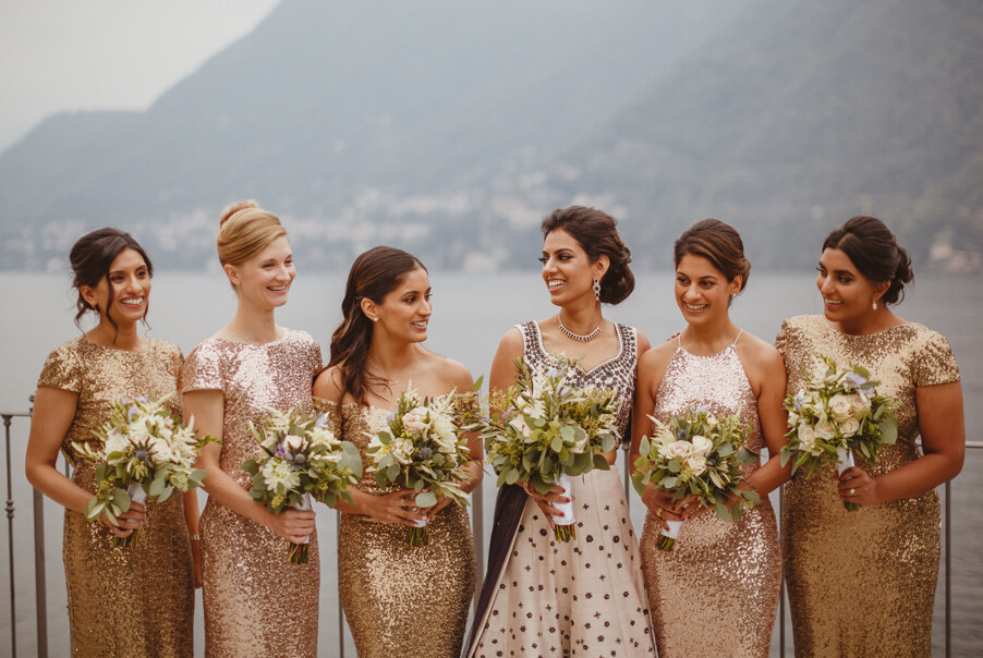 Indian-wedding-bride-with-her-bridesmaids-on-Lake-Como-wedding-by-My-Lake-Como-Wedding