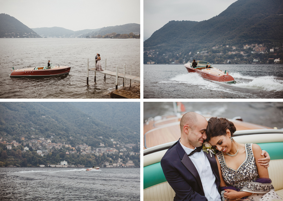 Lake-Como-wedding-images-showing-Indian-wedding-on-Lake-Como-with-Riva-speed-boat-wedding-planner-My-Lake-Como-Wedding