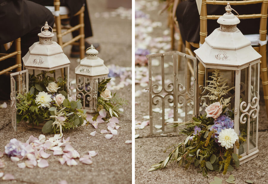 Wedding-detail-flowers-in-a-lantern-rustic-style-for-Lake-Como-by-My-Lake-Como-Wedding