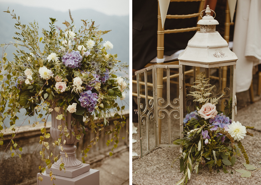 Wedding-flower-urn-and-column-and-lantern-decoration-by-My-Lake-Como-Wedding