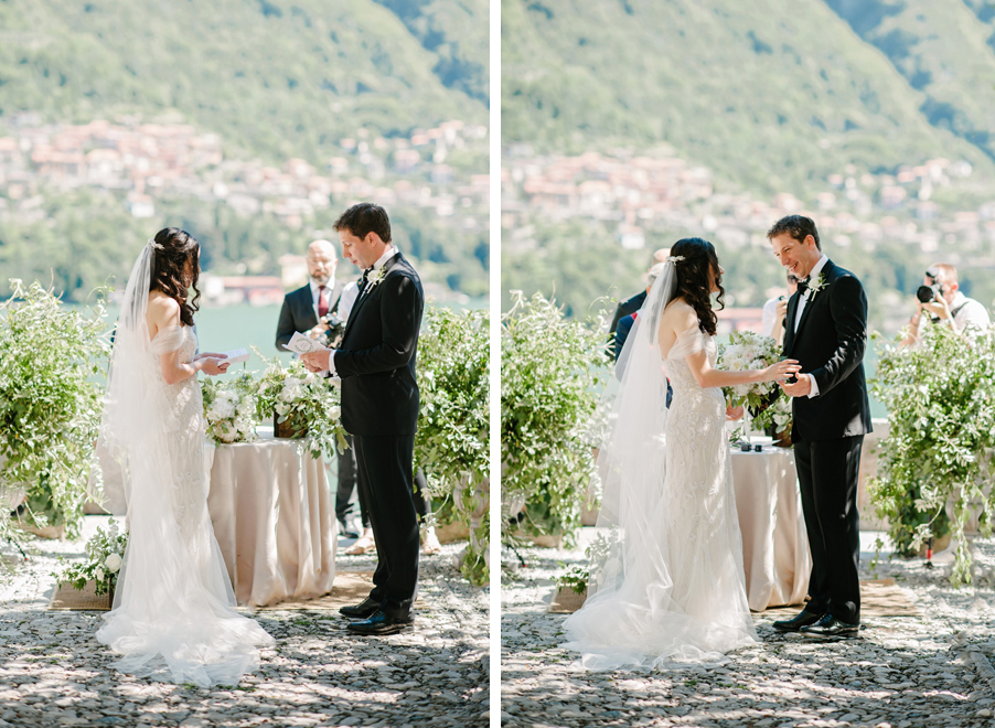 Bride-and-groom-at-the-alter-at-their-Italian-wedding-ceremony-on-Lake-Como-by-My-Lake-Como-Wedding