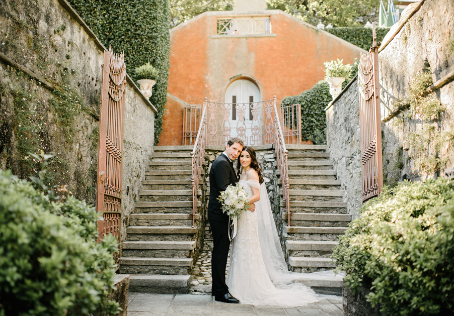 Photoshoot-on-wedding-day-for-bride-and-groom-at-Italian-villa-by-My-Lake-Como-Wedding