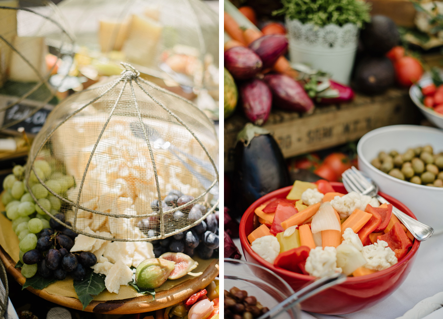 Two-images-showing-cheese-and-fruit-Italian-aperitivo-on-Lake-Como-arranged-by-My-Lake-Como-Wedding