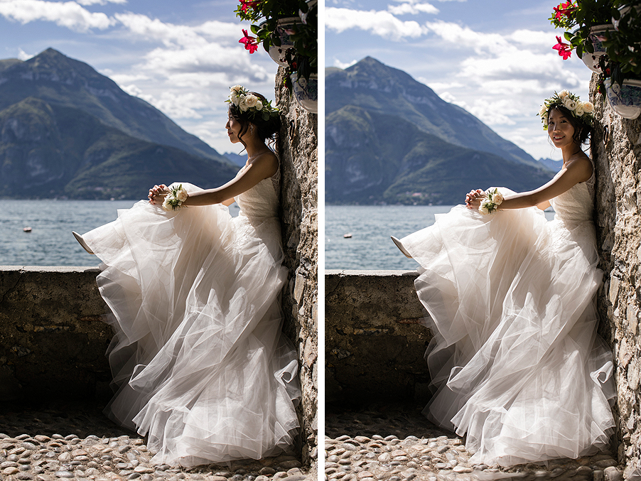 Bride-during-photoshoot-on-Lake-Como-by-wedding-planner-My-Lake-Como-Wedding