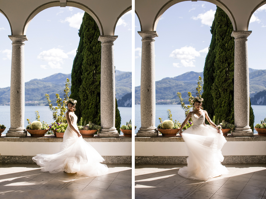 Bride-in-wedding-dress-on-Lake-Como-at-Villa-Monastero-by-wedding-planner-My-Lake-Como-Wedding