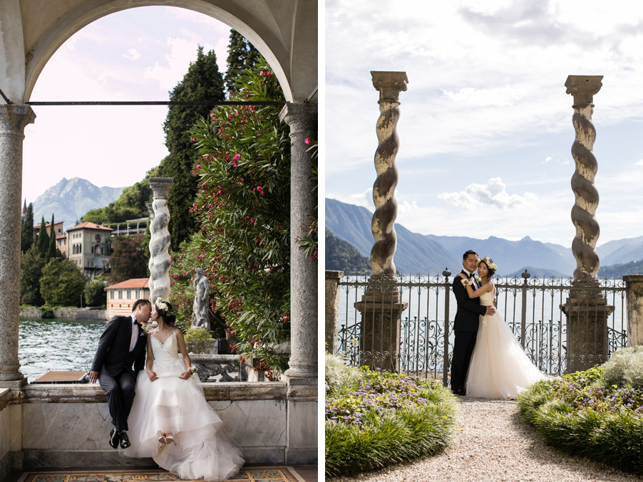Two-images-showing-a-Lake-Como-photoshoot-arranged-by-My-Lake-Como-Wedding