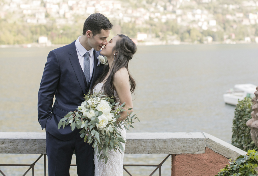 Michelle-and-Kerwin-Lake-Como-wedding-image-of-them-kissing