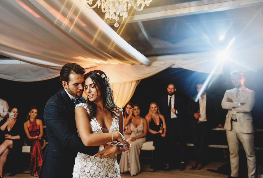 Bride-and-groom-at-Villa-Balbainello-for-first-dance-so-romantic